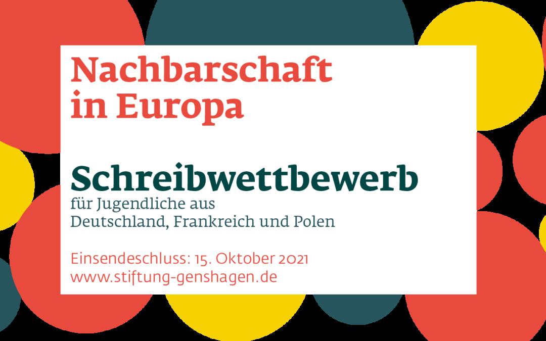 """Schreibwettbewerb: """"Nachbarschaft in Europa"""""""